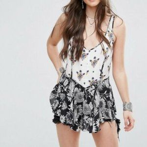 FREE PEOPLE Mixed Print Cami in Black - XS,S